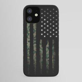 Khaki american flag iPhone Case