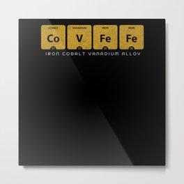 CoVFeFe is Iron Cobalt Vanadium Alloy Metal Print
