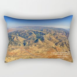 And in that moment, I swear we were infinite ∞. Aerial photo Rectangular Pillow
