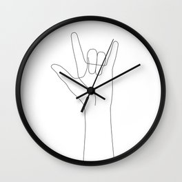 Love Hand Gesture Wall Clock
