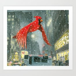 Flying up 5th Avenue Art Print