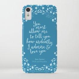 Jane Austen Pride and Prejudice Quote iPhone Case