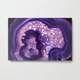 Purple Agate Stone Metal Print