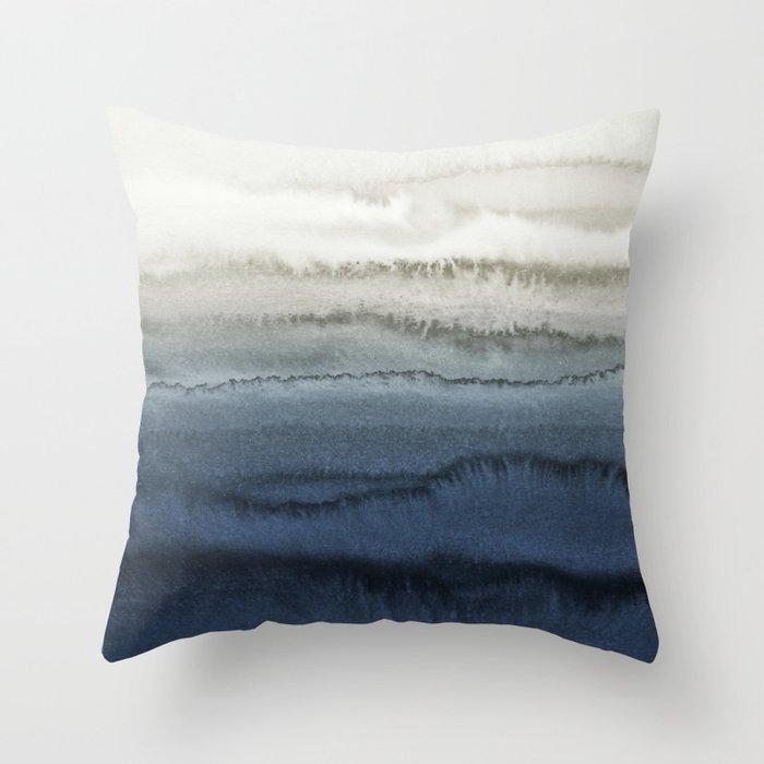 WITHIN THE TIDES - CRUSHING WAVES BLUE Deko-Kissen