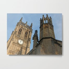 gothic tower - leeds minster Metal Print