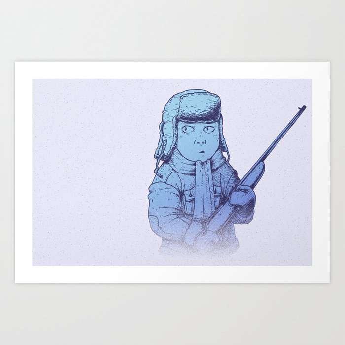 Winter Hunt - Track Art Print