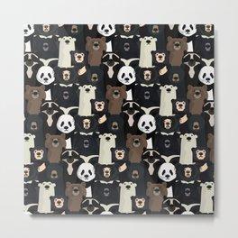 Bears of the world pattern Metal Print