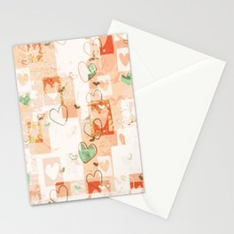 Abstract love pattern illustration graphic design Stationery Cards