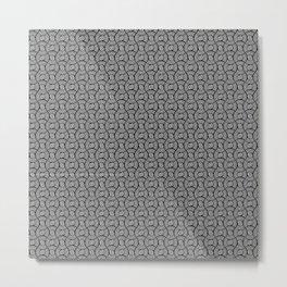 Coils (white on black) Metal Print