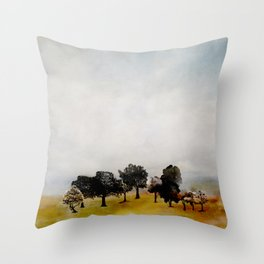 Group of Trees Throw Pillow