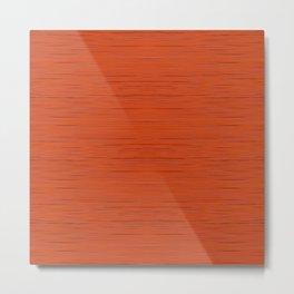 Meteor Stripes - Rust Orange Metal Print