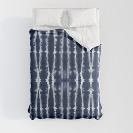 Palm Tiki Shibori Indigo Comforters