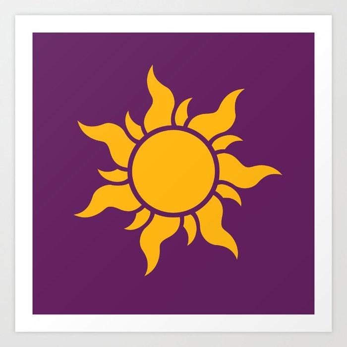 Tangled Rapunzel Sun Logo Corona Symbol Art Print By Teohoble Society6