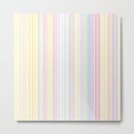 Happy Dream -Elegant Colorful stripe- Metal Print