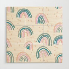 Rainbow Chroma Pastel Wood Wall Art