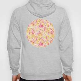 Art Deco Pattern in Pink and Orange Hoody