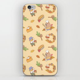 Bubu the Guinea pig, Fall and Pie iPhone Skin