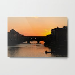 Travel Photography: Sunset Over Arno Metal Print