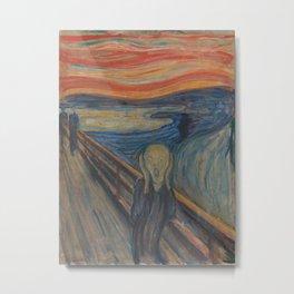 Edvard Munch - The Scream Metal Print