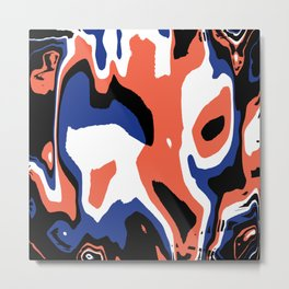 Spot pattern blue and orange Metal Print