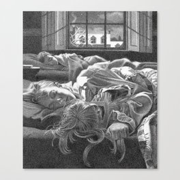 All snug in their beds... Canvas Print