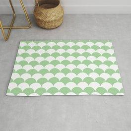 Mint Fan Shell Pattern Rug