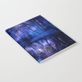 Enchanted Forest Lake Purple Blue Notebook