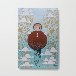 The Roly Poly Doll Metal Print