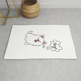 Samoyed dog Puppy Doggie Gift Present Dow-Owner Rug