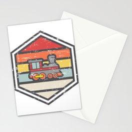 Retro Badge Locomotive Light Stationery Cards