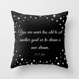 C.S. Lewis Dreams Throw Pillow