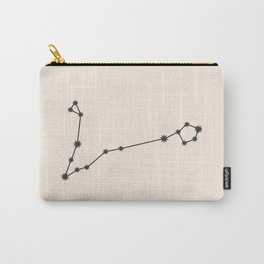 Pisces Zodiac Constellation Charcoal Carry-All Pouch