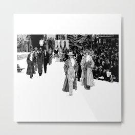 iconic karl looks black and white Metal Print