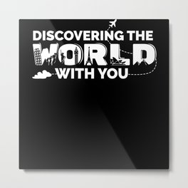 Discovering The World Metal Print