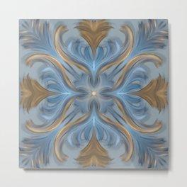 Avee's Garden Party (Blue) - Fantasy Floral Metal Print