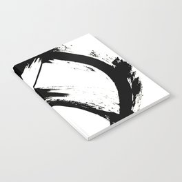 Brushstroke 7: a minimal, abstract, black and white piece Notebook