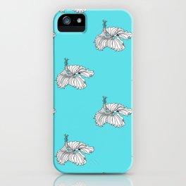 Aqua hibiscus iPhone Case