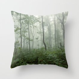Smoky Mountain Summer Forest - National Park Nature Photography Throw Pillow