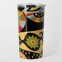 bohemian black Travel Mug
