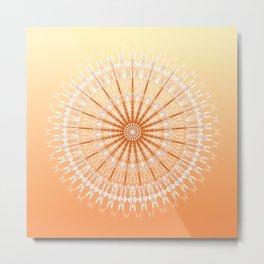 Orange Yellow Mandala Metal Print