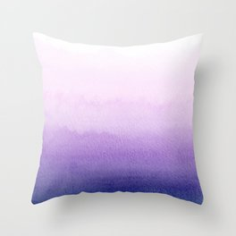 Purple Watercolor Design Throw Pillow
