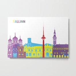 Tallinn skyline pop Metal Print