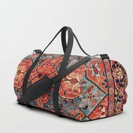 Kashan Poshti Central Persian Rug Print Duffle Bag