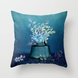 The Moods of Blue Throw Pillow