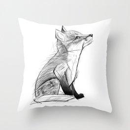 Fox Pup Throw Pillow