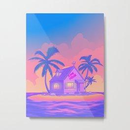 80s Kame House Metal Print