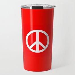 Sketch Peace Sign Travel Mug