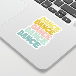 Dance in Candy Pastel Lettering Sticker