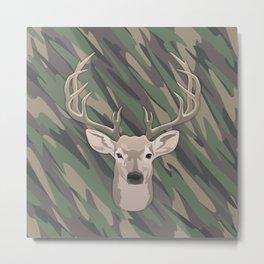 Beautiful buck dear head with big antlers Metal Print