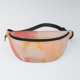 Abstract Peach Watercolor Fanny Pack